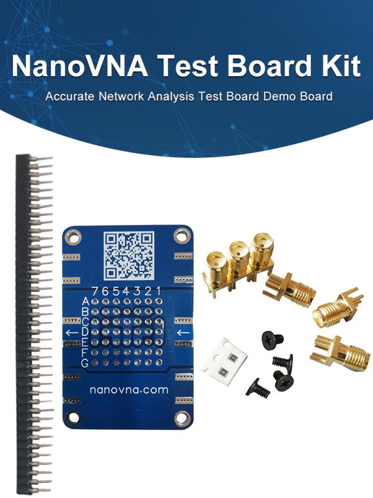 NanoVNA Testboard Kit Durable red precisos análisis prueba Junta Placa de demostración de atenuador con 6 SMA hembra adaptador