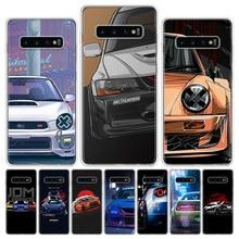 Cool Japan JDM Sports Car Comic Phone Case For Samsung Galaxy S6 S7 S8 S9 S10 S10E S20Ultra Plus Lite J4 J6 J8Plus Note 8 9 10 P