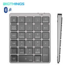 Bluetooth цифровая клавиатура, беспроводная миниатюрная цифровая клавиатура teclado из алюминиевого сплава для офисных работников Windows
