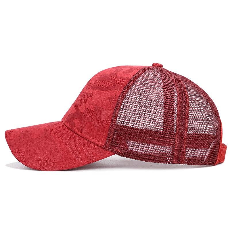 Женская камуфляжная бейсболка модный конский хвостик, Женская дышащая сетчатая бейсболка, уличные регулируемые шляпы от солнца в стиле хип...