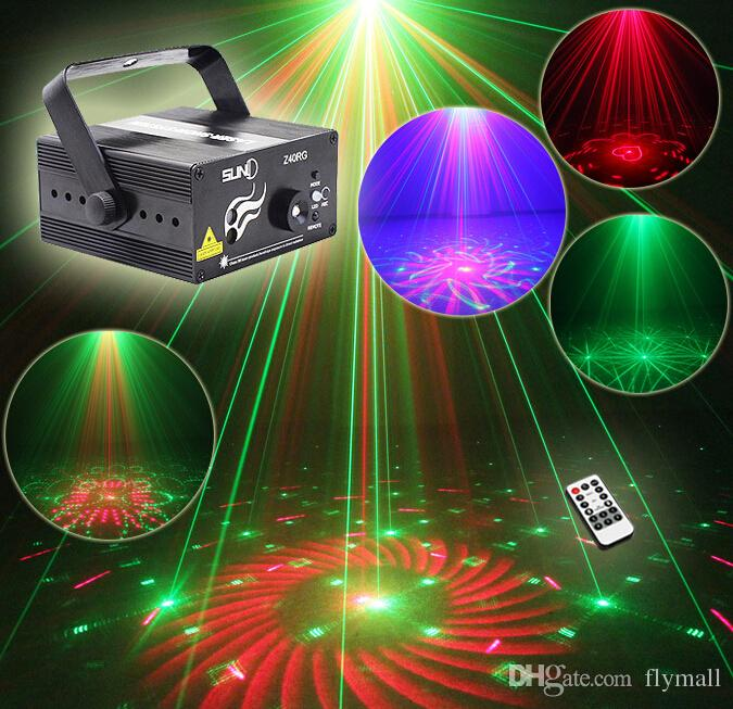 Suny RG 3 Lens 40 Patterns Mini Laser Projector Stage Light Blue LED Stage Lighting With Remote Control Show Disco DJ Party Ligh enlarge