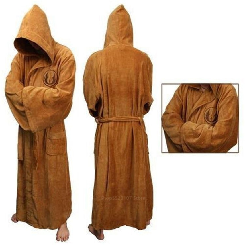 New Star Wars Anime Robes Sleepwear Cosplay Costume for Adult Men Jedi Knight Anakin Disguise May The Force Be with You coslive new version bane jacket coat batman the dark knight rises cosplay costume for men adult