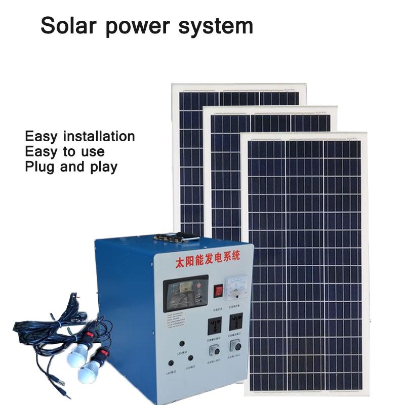 لا تحتاج مولدات الطاقة الشمسية إلى تركيب مجموعة كاملة من الألواح الشمسية المنزلية الصغيرة في أنظمة توليد الطاقة الخارجية