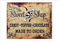 Sweet Shop  Plaque en metal 12  x 8   panneau en etain pour la maison  Bar  jardin  cuisine  Pub  bistrot  decor dart mural