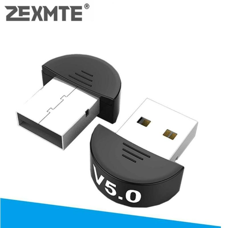 Zexmte mini usb sem fio bluetooth 5.0 adaptador transmissor para computador computador portátil sem fio receptores de áudio & adaptadores