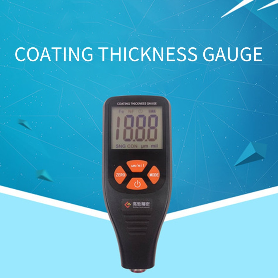 TC660 Coating Thickness Gauge Paint Film Automotive Tester Electromagnetic Induction And Eddy Current Effects