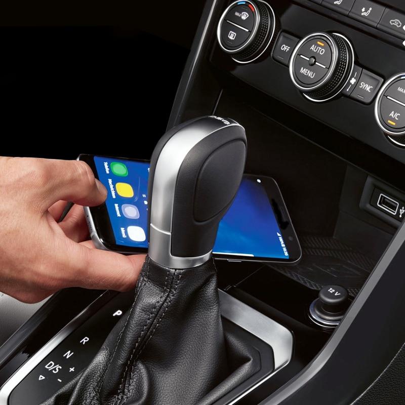 Para VW t-roc Teramont Phideon 2016 2017 2018 Jetta t-cross 2019 10W QI cargador inalámbrico placa de carga accesorios para iPhone