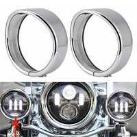 60 hot sale 2pcs 4 5inch protective motorcycle light visor style passing lamp trim ring