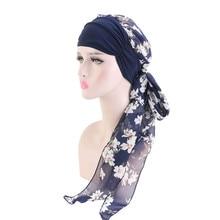 Женский головной убор Chemo, тюрбан, длинный головной платок для волос, головной убор, шапки с раком, бохо, повязка на голову, аксессуары для волос для женщин, 2020