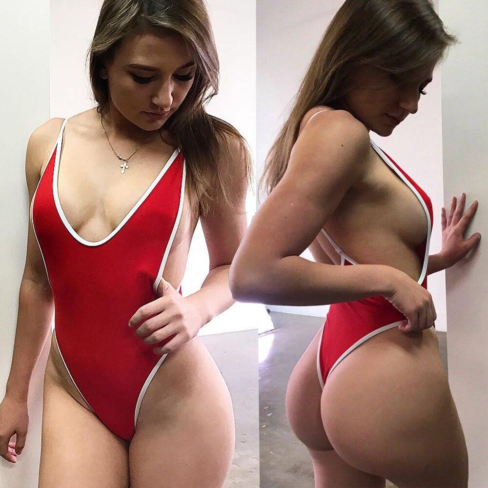 Сексуальное бикини 2021, женский купальник, бикини, Цельный купальник с низким V-образным вырезом, сексуальные купальники, женские купальники