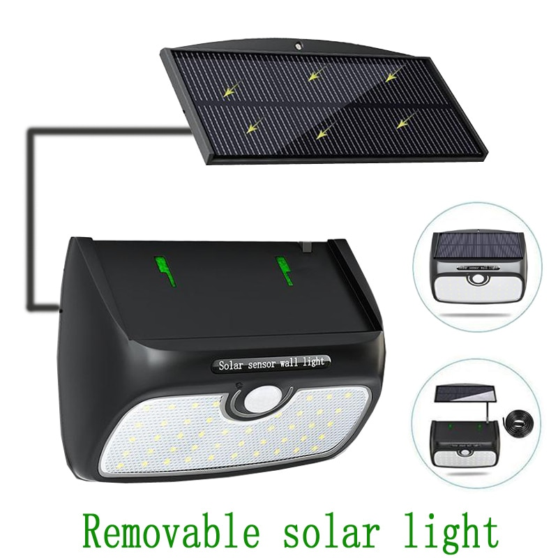 48LED solar light outdoor solar panel can be separated for indoor and outdoor use courtyard corridor garden PIR street light