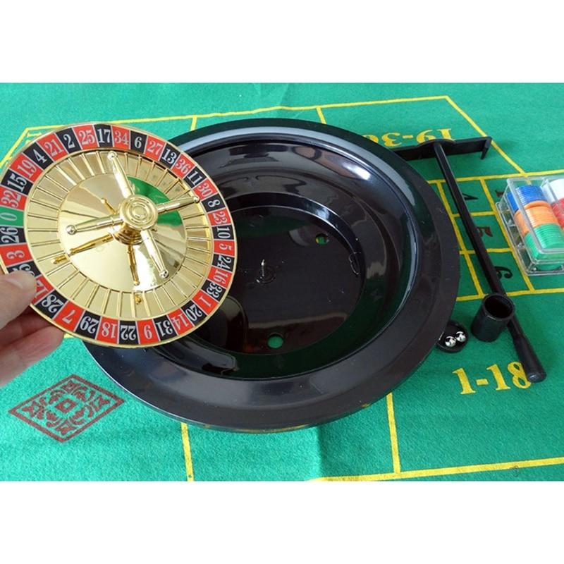 10-дюймовая рулетка, набор игр, рулетка для казино, рулетка с настольной тканью, покерные чипы для бара, KTV, вечеринки, игра Borad-4