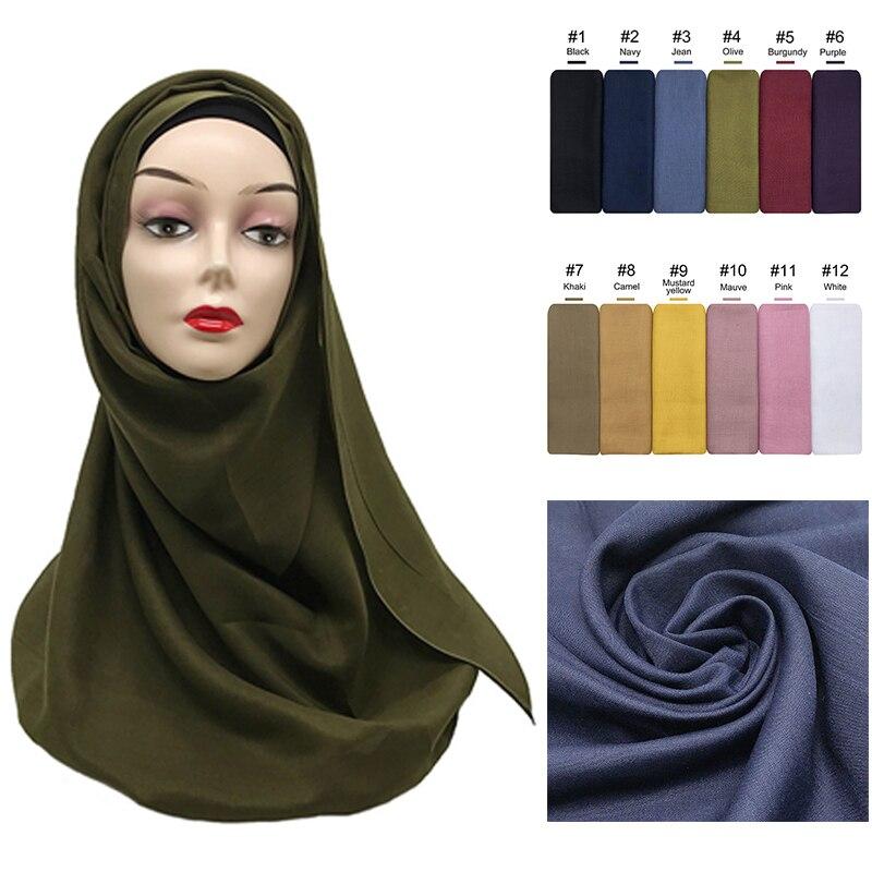 75*180cm women muslim cotton hijab scarf femme musulman soft cotton headscarf islamic hijab shawls a