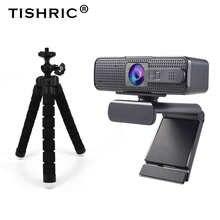 Веб-камера Ashu H701 с автофокусом, Full HD, 1080P, с микрофоном