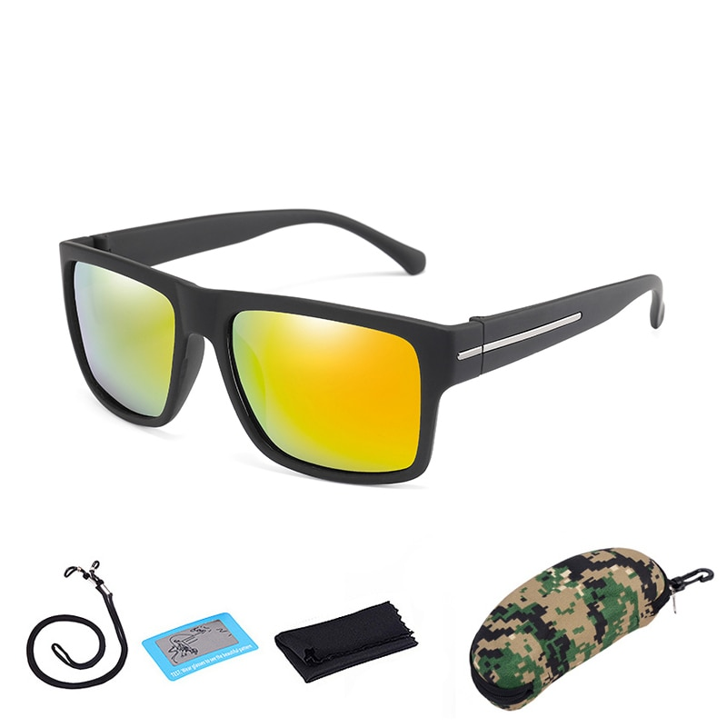 Gafas de sol polarizadas de senderismo Camping hombres mujeres deporte escalada pesca gafas UV400 bicicleta ciclismo gafas con caja