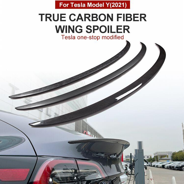 Модель 3y, новинка, оригинальные Спойлеры для багажника Tesla, спойлер модели Y 2021, аксессуары из настоящего углеродного волокна, матовый глянце...