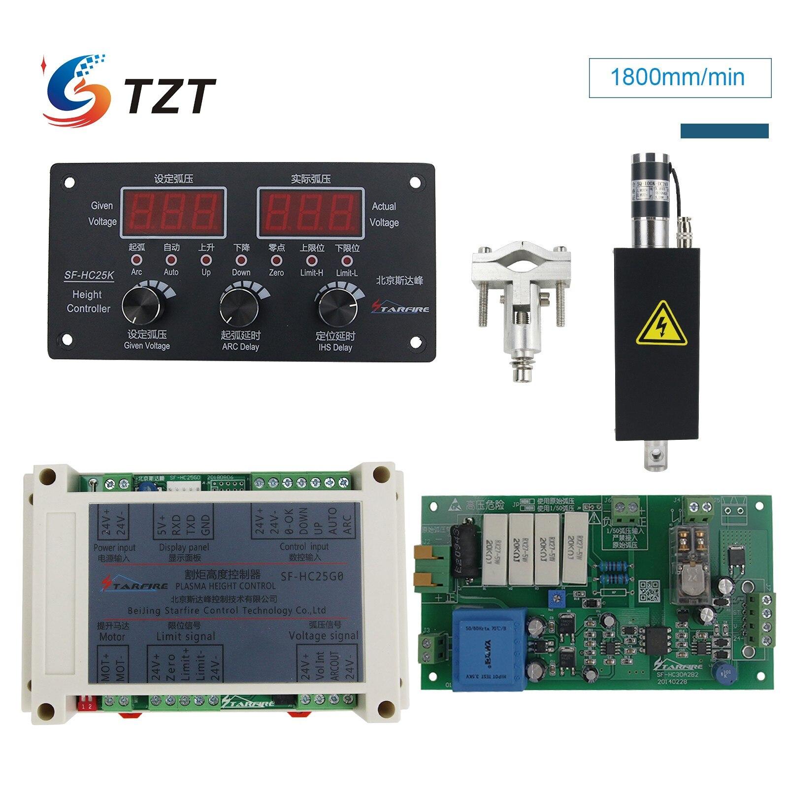 TZT نك ثك البلازما قطع مفتاح التحكم في الارتفاع المزود بمصباح SF-HC25G أو SF-HC25K مع ثك رافع JYKB-100-DC24V-T3