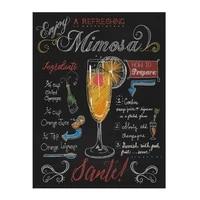 tin sign mimosa cocktail 8x12 inch metal tin sign decoration iron painting metal decorative wall art