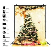 yeele winte christmas tree gift backdrop golden giltter dot light baby child portrait photo background photography photophone