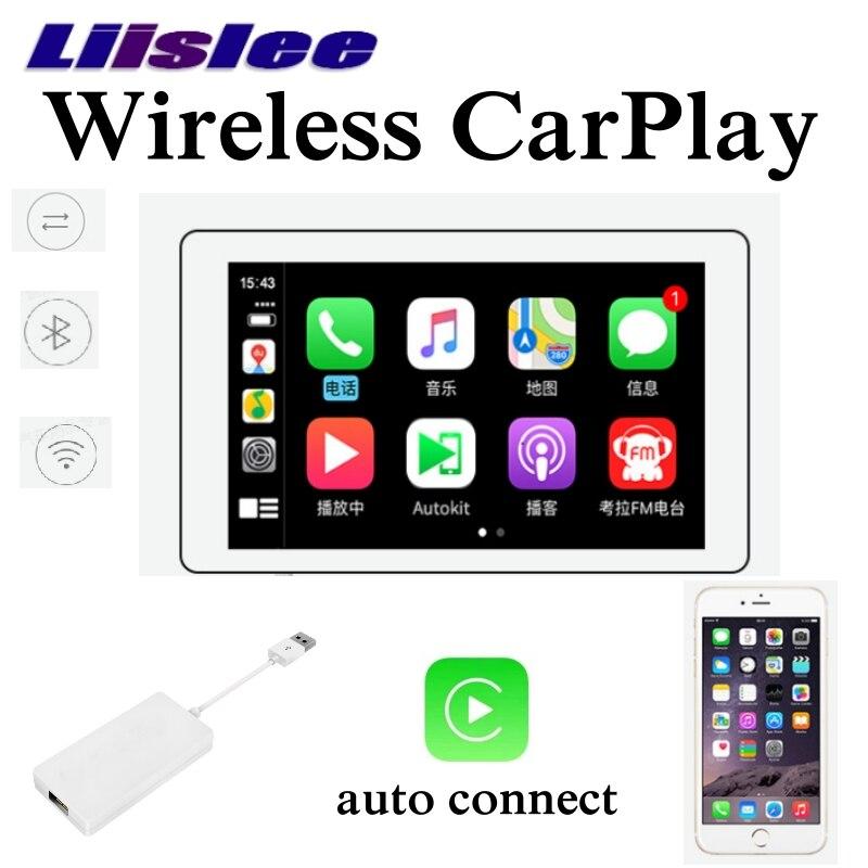 Liislee adaptador CarPlay inalámbrico caja de dongles auto conectar pantalla táctil teléfono coche Radio por unidad principal para un Control de conducción seguro