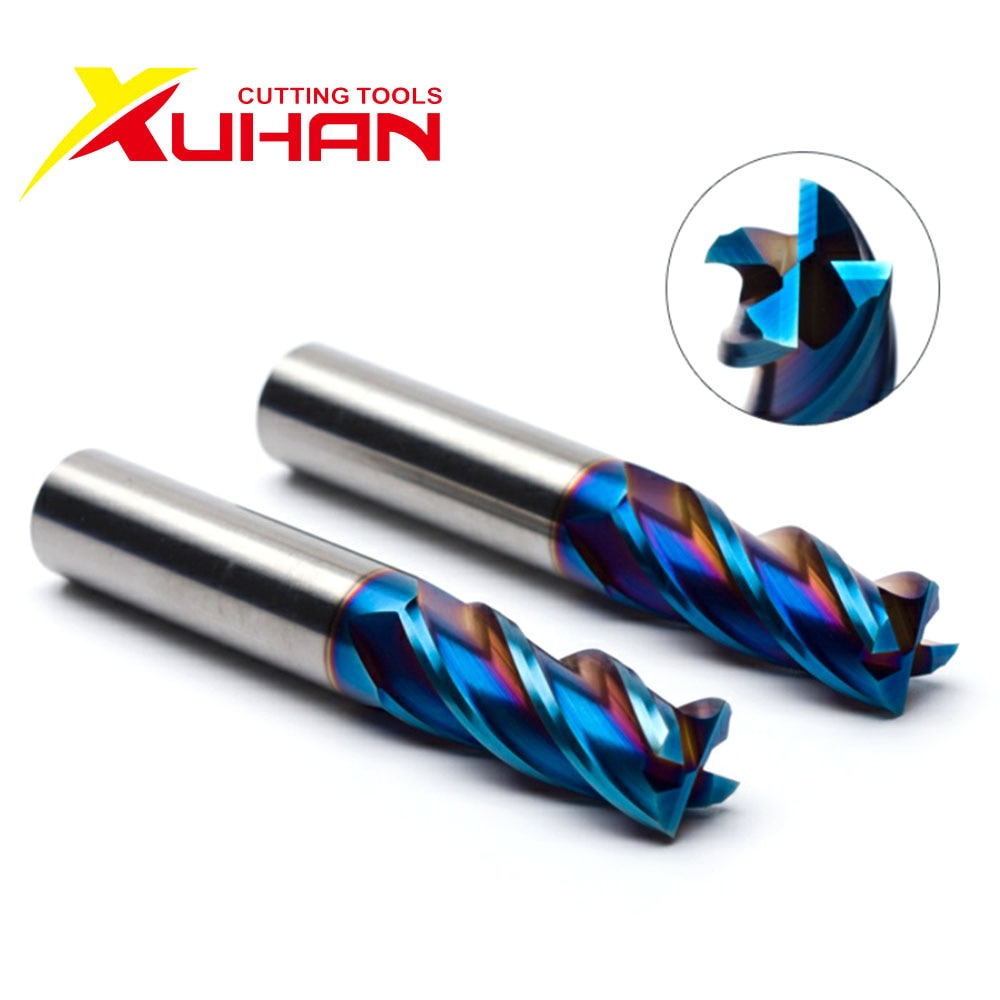 HRC65 4 Flutes carbide end mill milling tools Alloy Coating Tungsten Steel endmils Cnc machine cutting tools end mills