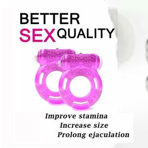 Vibrating Clitoral Stimulator Penis Erect Cock Ring Cage Erection Enhance Sex Ability Product Sex Toys For Men Couple Cockring