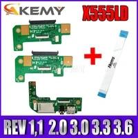 NEUE  X555LD REV 3 3 3 6 2 0 HDD board Fur For Asus X555L X555LD Laptop HDD Festplatte Board   USB audio board zu senden kabel