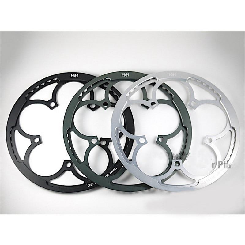 Rueda de cadena plegable de 3 colores, 56T BCD 130, protector de piñón para motor de rueda de cadena brompton, súper ligera