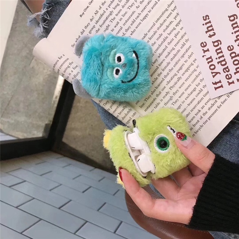 Cute earphone case holder Protective sleeve plush cute cartoon for Apple earphone sleeve anti-fall Airpods 2 new enlarge