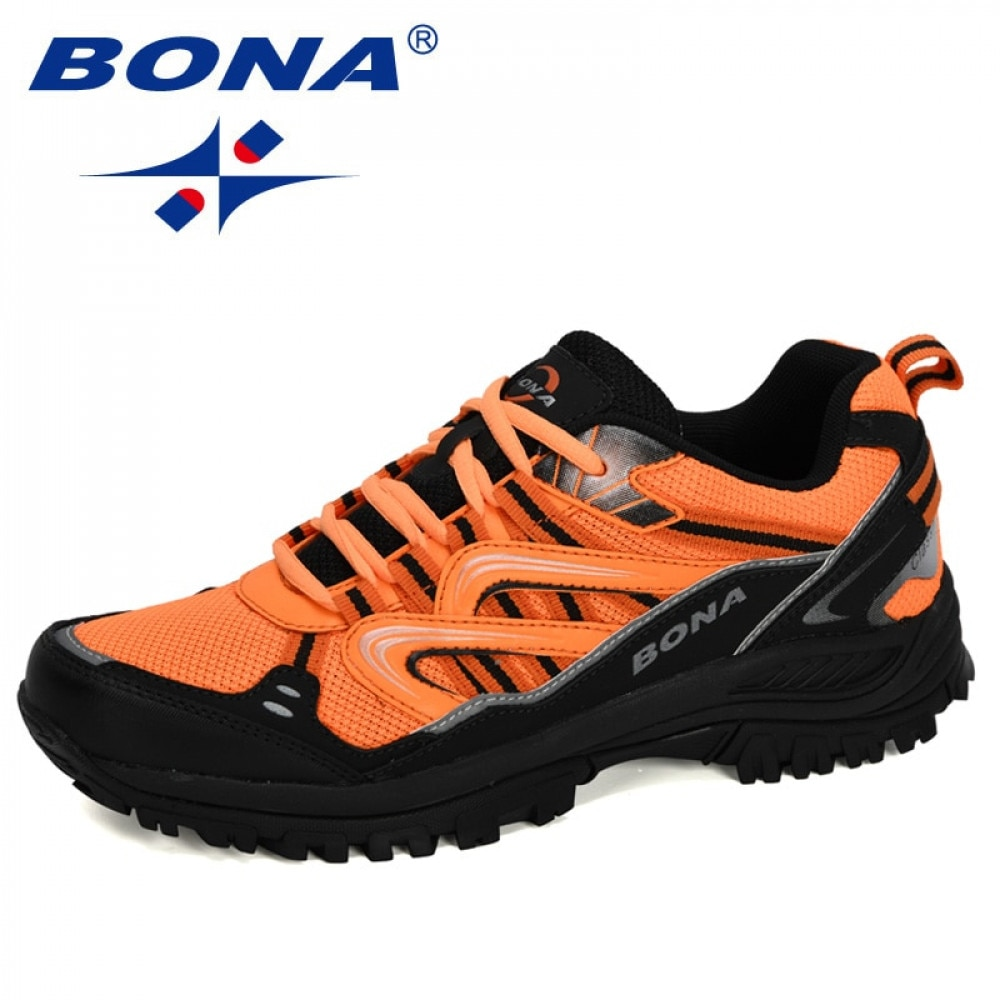 BONA 2020 New Designers Popular Sneakers Hiking Shoes Men Outdoor Trekking Shoes Man Tourism Camping