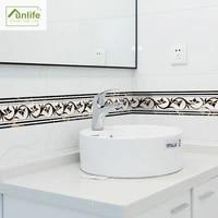 funlife%c2%ae old greek border wall border waterproof removable tv background diamond marble mosaic colorful modern mosaic bathroom