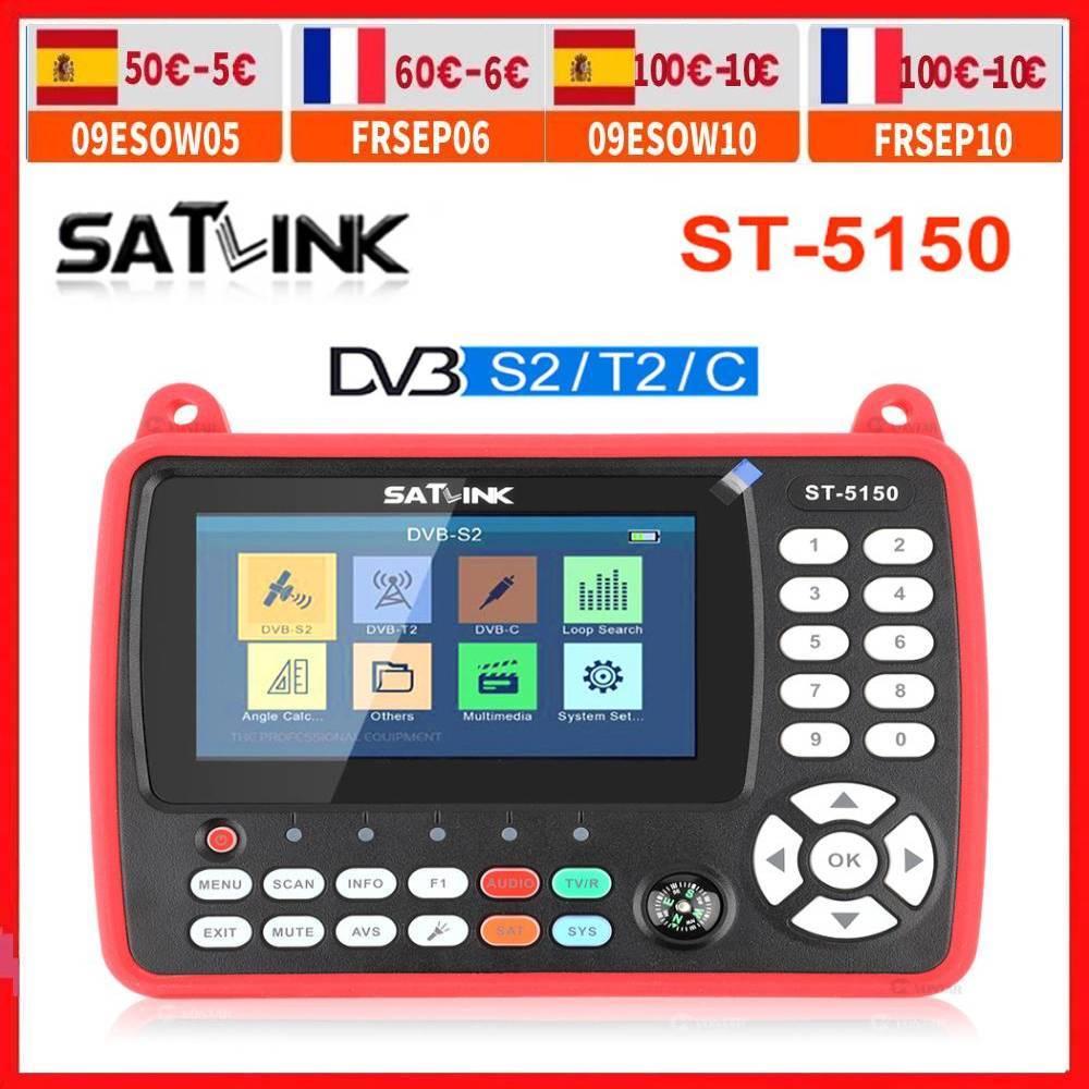 الأصلي SATLINK ST-5150 DVB-S2/T2/C كومبو HD الفضائية مكتشف متر HEVC MPEG-4 يدعم H265 (8bit) QPSK 8PSK 16 16apsk 4.3 بوصة