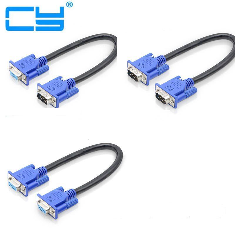 Cable de vídeo Macho para Monitor de 30cm, 50cm, 150cm, HD15Pin, VGA...