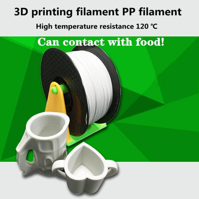 خيوط طابعة PP 1.75 مللي متر 1 كجم ، مواد طباعة بدرجة الطعام 60-65D FDM Resina Filamentto ، الأفضل مبيعًا ، قوة عالية