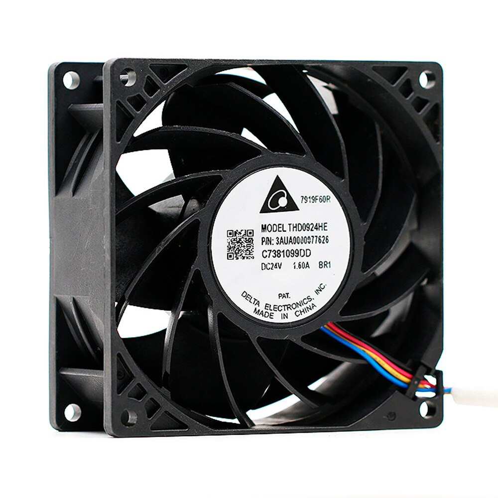 For delta THD0924HE DC 24V 1.60A 9CM 9038 92X92X38mm 9238 Inverter 4-wire server Cooling Fan