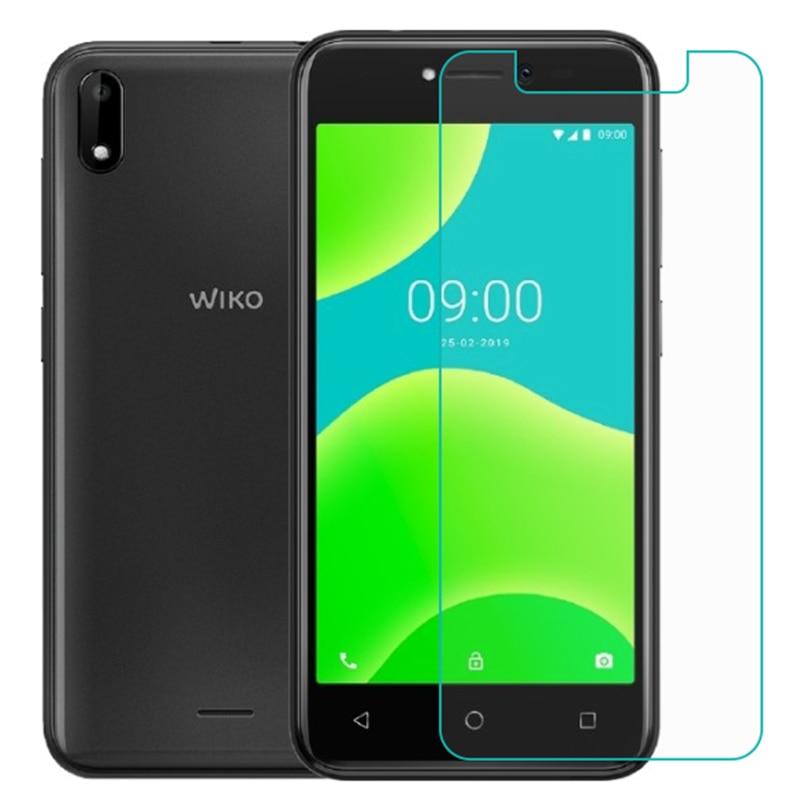 Smartphone 9 h vidro temperado para wiko y50 vidro protetor de tela película protetora capa caso do telefone