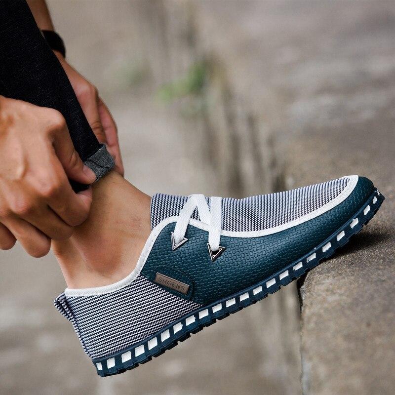 Купить с кэшбэком Men's Sneakers 2020 New Lazy Driving Shoes Casual Wild Tide Men's Shoes Peas Shoes Boys Wholesale Footwears Flats