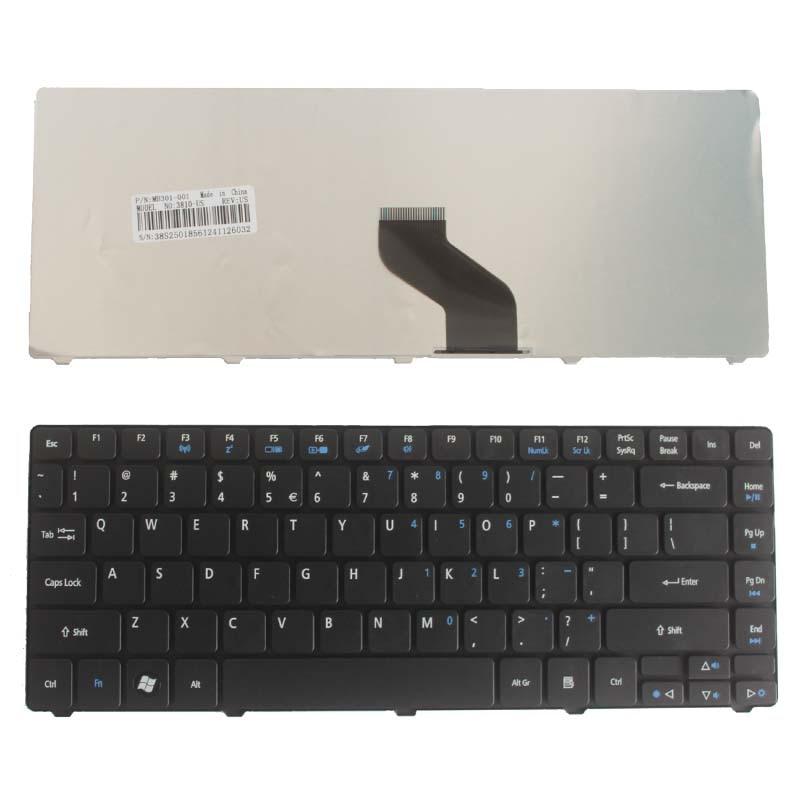 Nuevo teclado de EE.UU. para Acer Aspire 4251G 4352G 4352G 4560G 3750 3750Z 3750G 3750ZG 4253G 4750Z 4750ZG nos portátil negro teclado