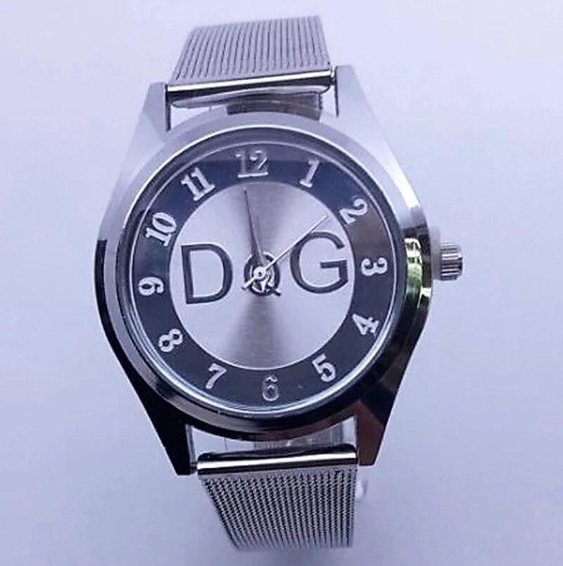 Reloj Mujer Top Brand Fashion Women's Watches Luxury Stainless steel mesh belt Analog Quartz Watch W