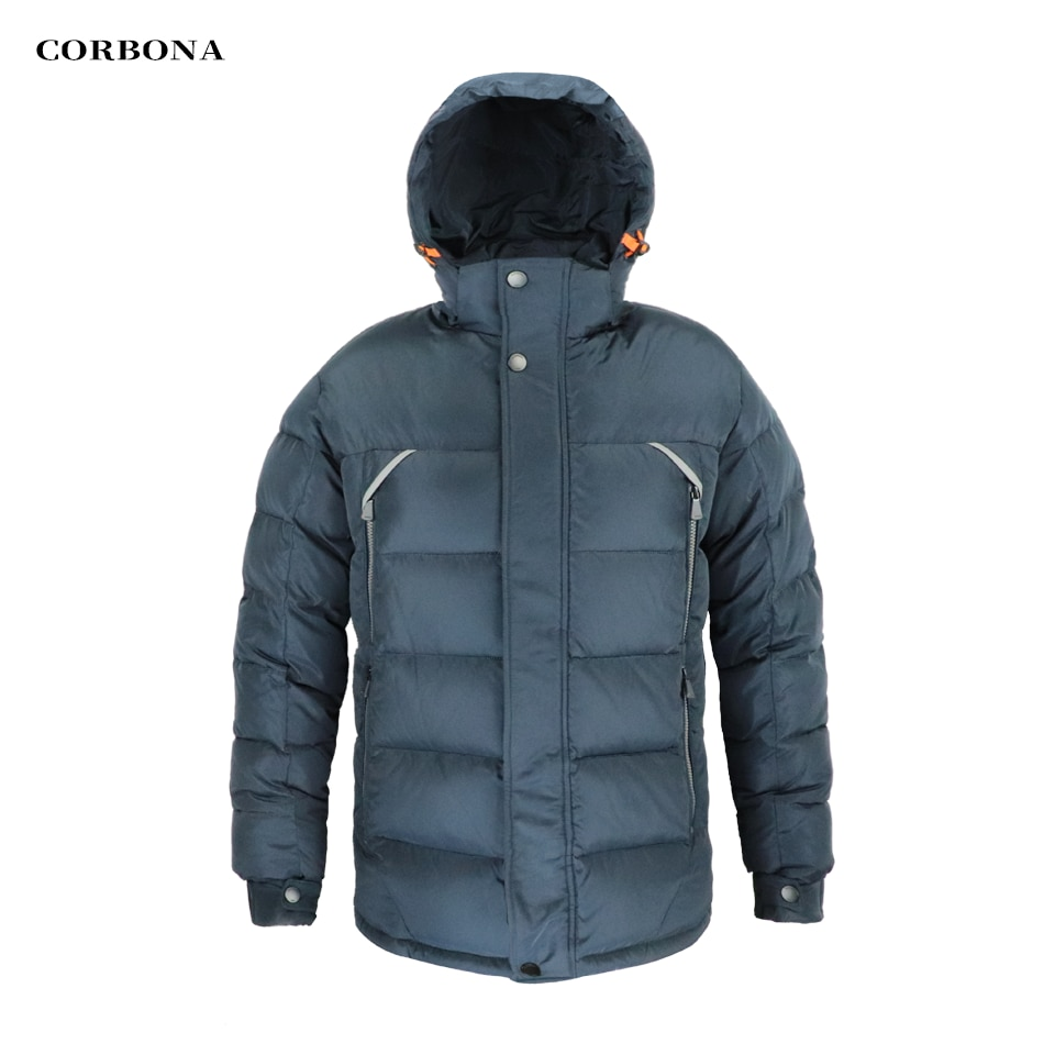 CORBONA 2021 New Men's Jacket Winter Thickening Business Casual Fashion High-Quality Parka Cotton Coat Zipper Hooded Male