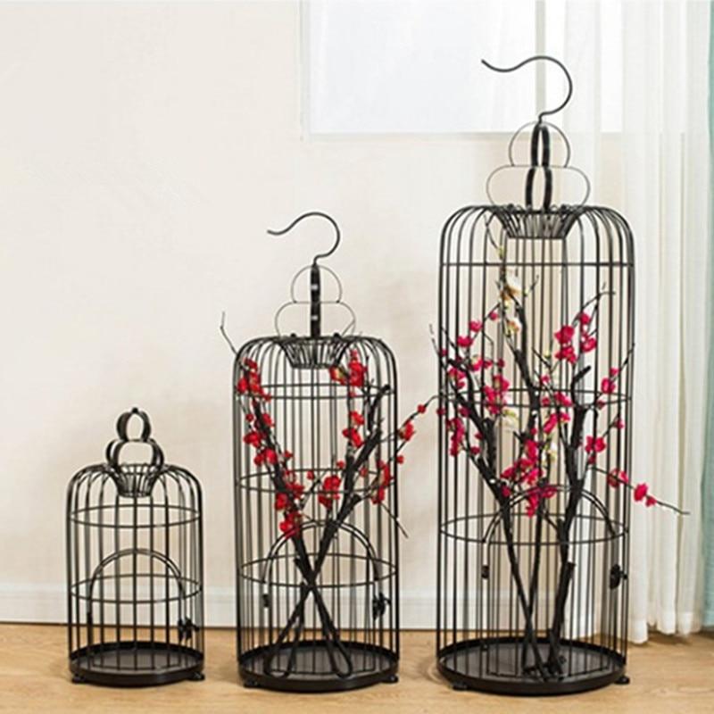 Gaiola de Pássaro Retro Decorativo Ferro Flor Gaiola Janela Decoração Casamento Adereços Decorações 1 Pçs
