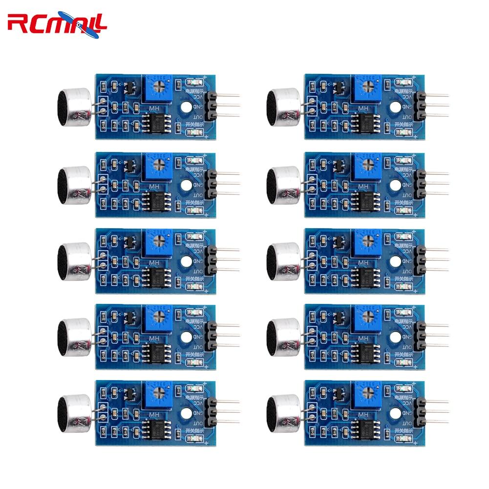 10 шт. микрофонный голосовой звуковой модуль для Arduino аналоговые цифровые выходные датчики