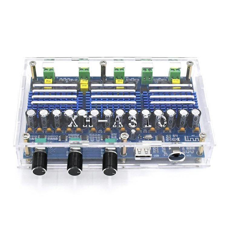 Placa amplificadora de potencia Bluetooth 5,0 TPA3116D2, Subwoofer estéreo de 4 canales 50Wx2 + 100Wx2, XH-A310 para cine en casa