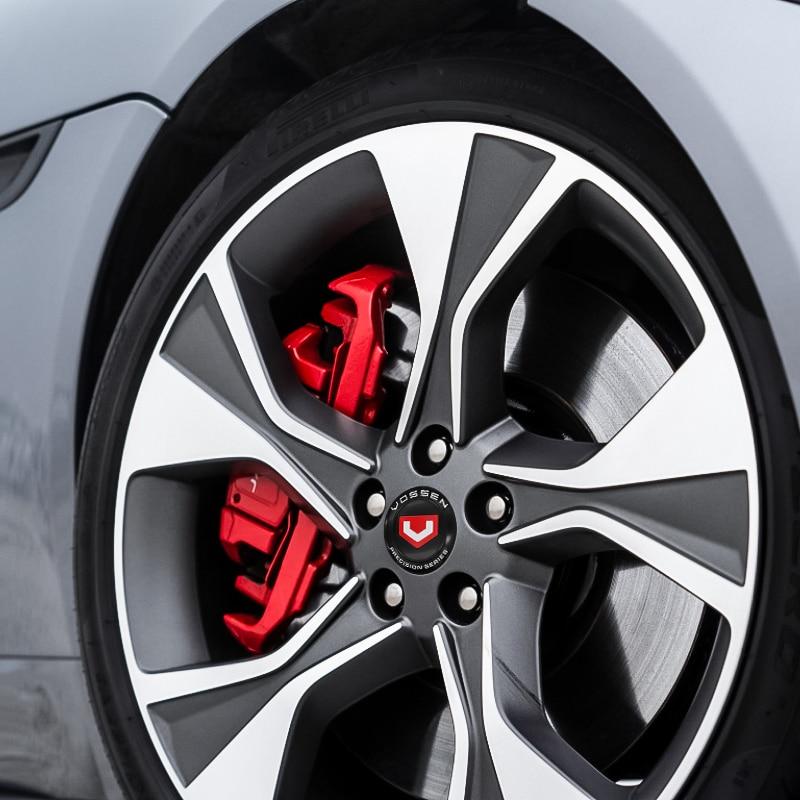Car styling 56mm Wheel hub center stickers Cap Wheel Badge Sticker cover VOSSEN- LOGO for A4 R8 TT 13523a car Accessories  - buy with discount
