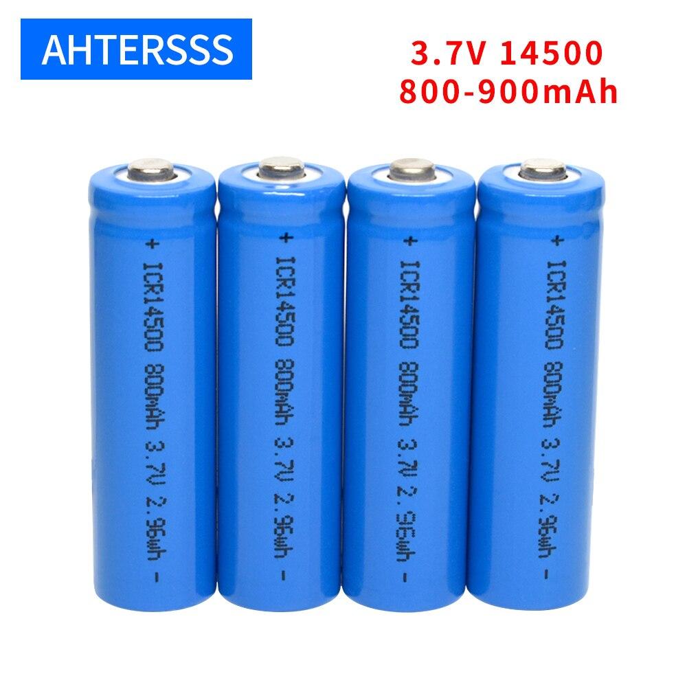 3.7v 14500 rechargeable battery lithium aa 2A 800-900mAh li-ion batteries