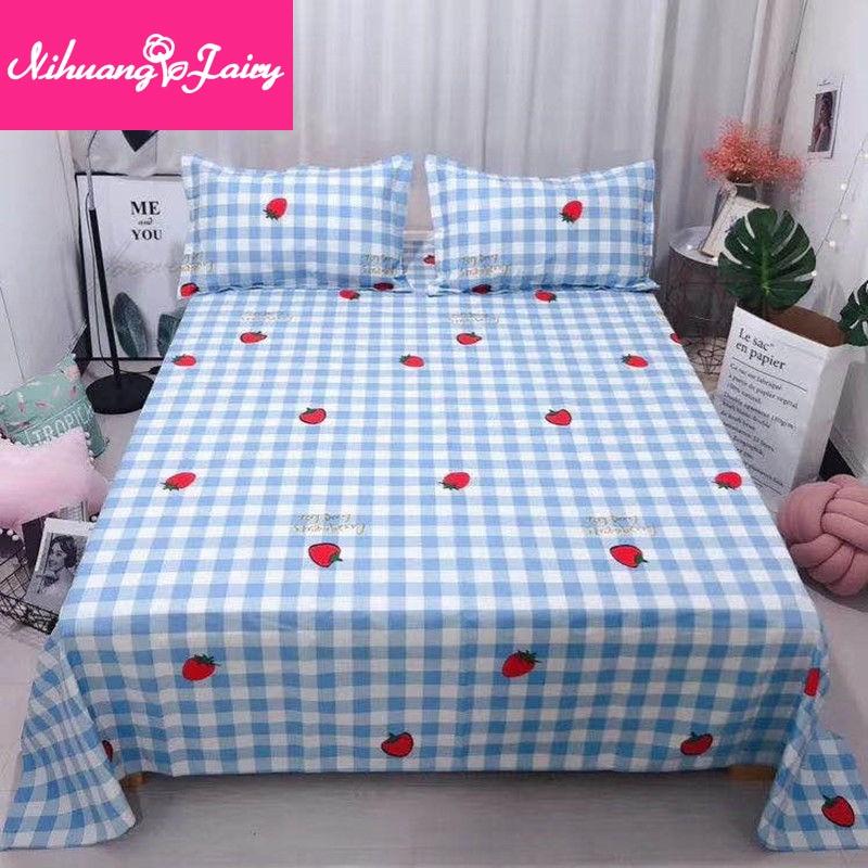 القطن الخالص سميكة القديمة القماش الخشن غطاء سرير قطعة واحدة القطن الكتان واحدة مزدوجة الكتان القطن الكتان ورقة مفرش