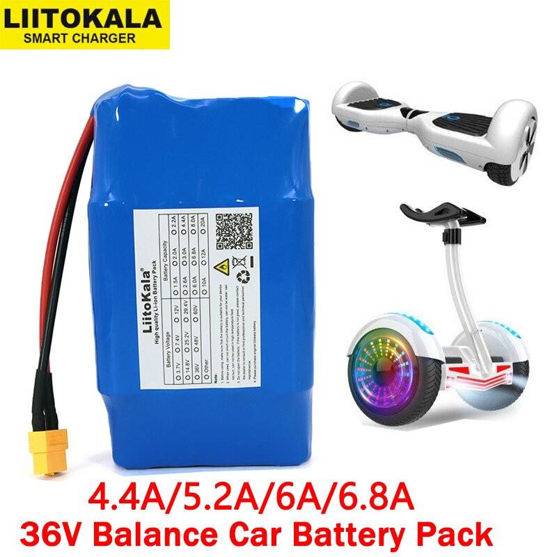 Liitokala 36V 4.4Ah 5.2Ah 6Ah 6.8Ah 2 wheel electric scooter self balancing 18650 lithium battery pack for Self-balancing Fits