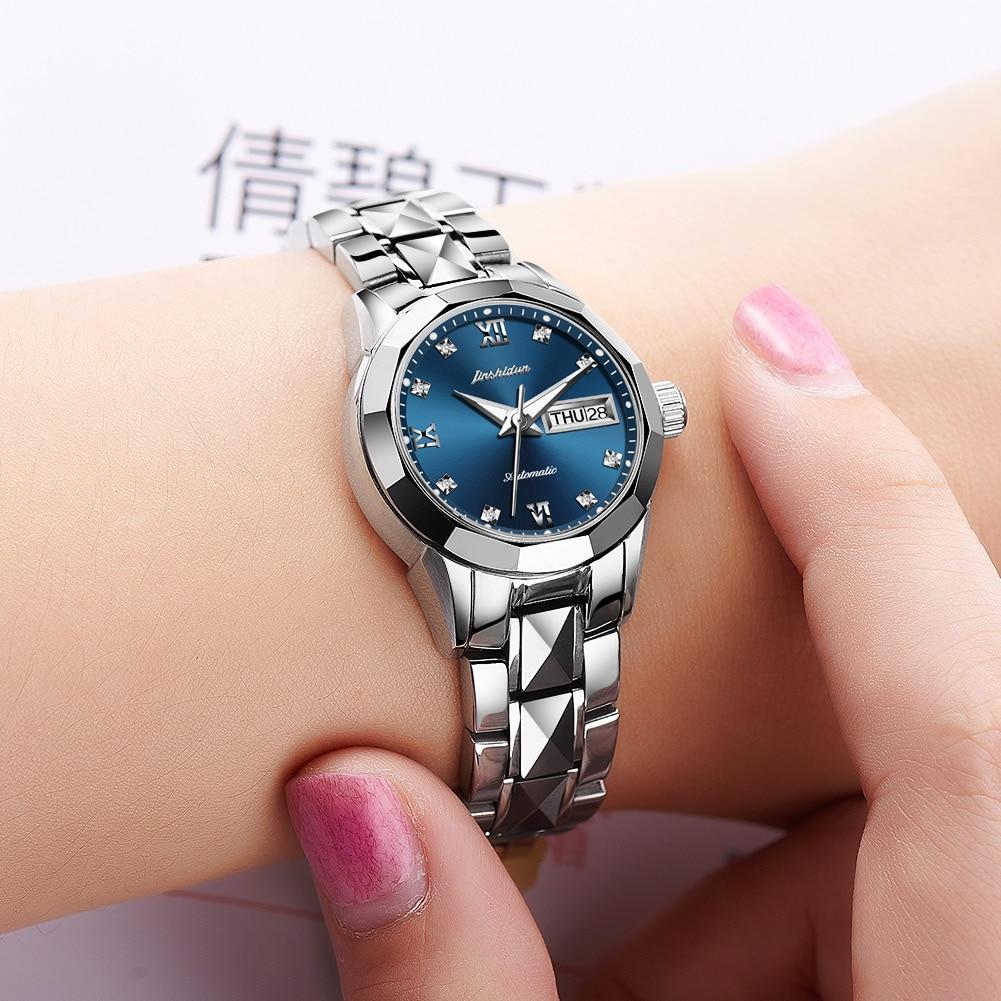 JSDUN Women's Automatic Mechanical Watch Waterproof Stainless Steel Strap Women's Mechanical Watch Fashion