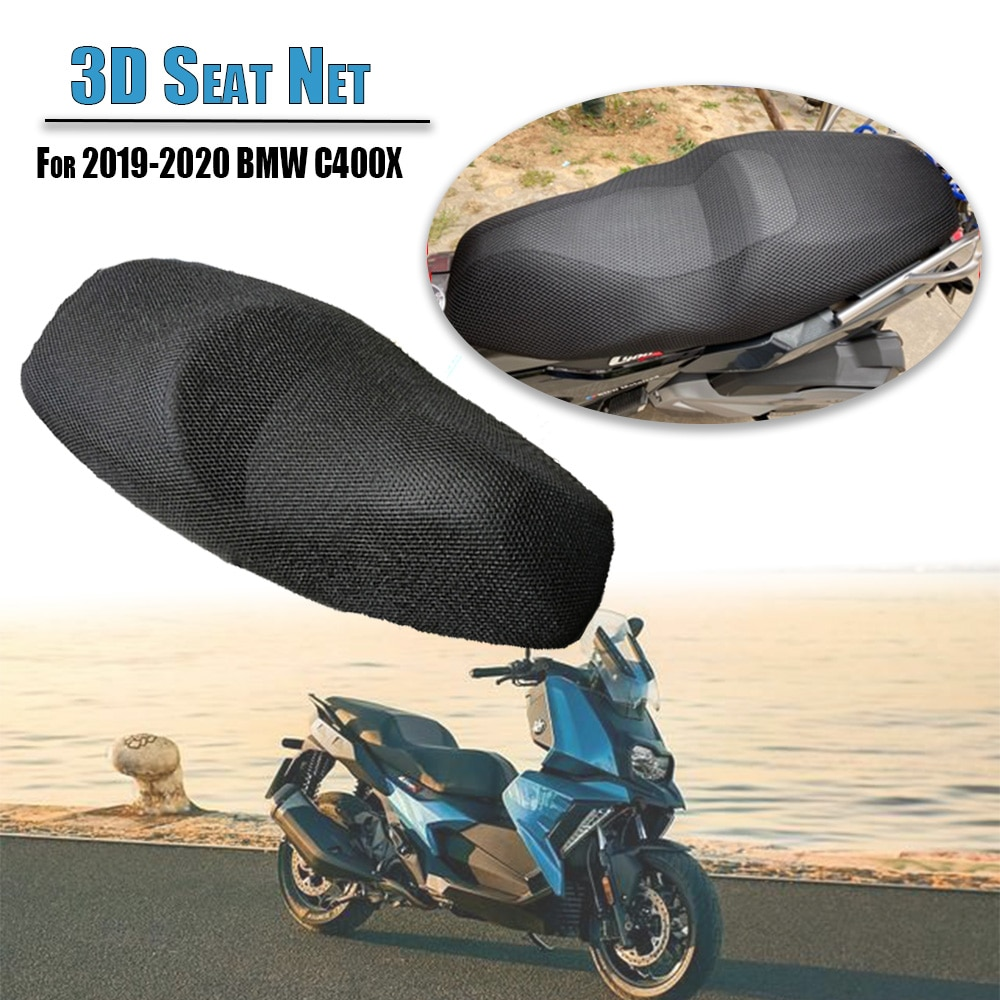 For BMW C400X C400 X 400X 2019 2020 Rear Seat Cowl Cover Waterproof Insulation Net 3D Mesh Net Protector Motorcycle Accessories