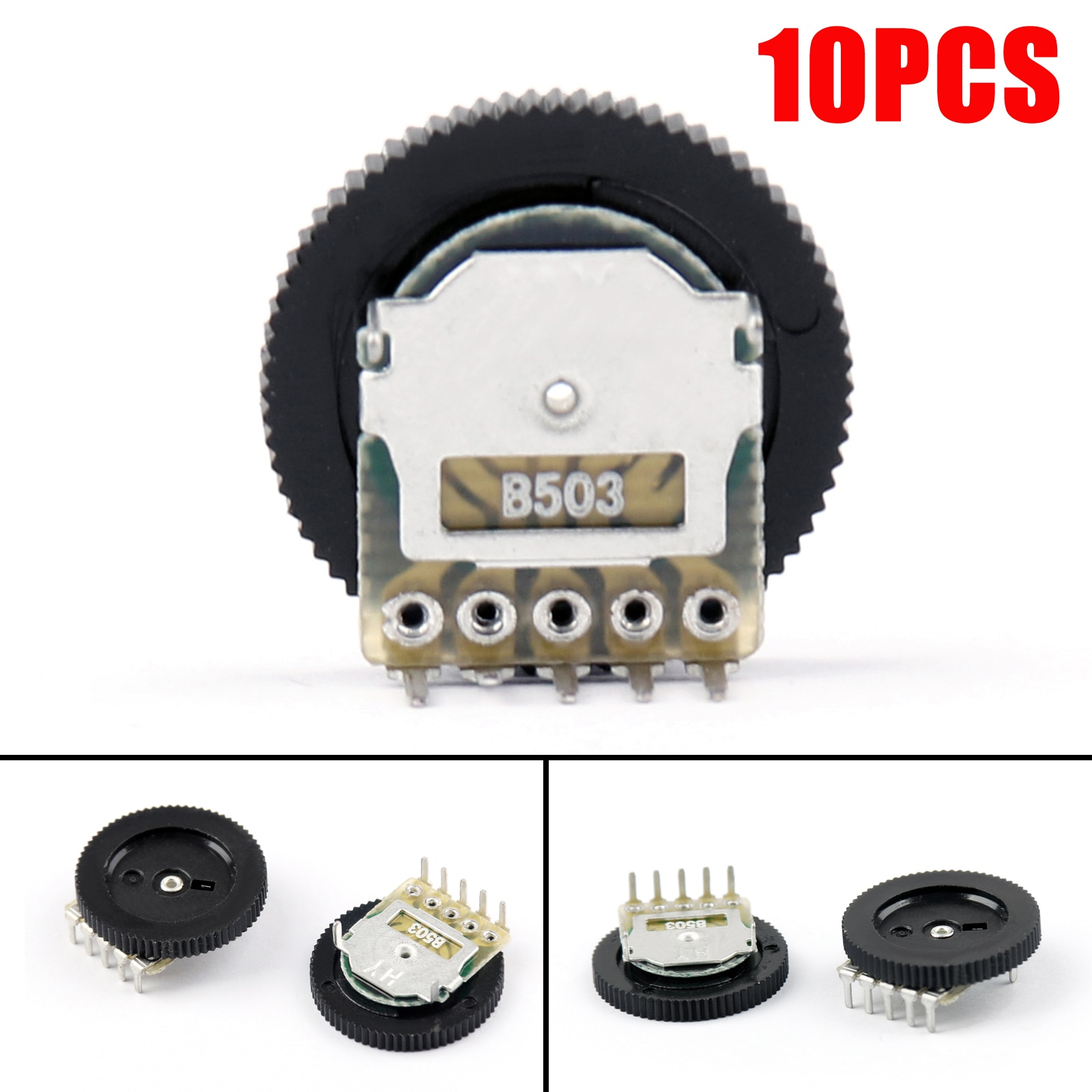 10 pces 16x2mm 50 k ohm duplo dial atarraxamento volume roda duplex b503 potenciômetro